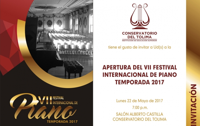 Invitacion digital - Festival de piano 2017
