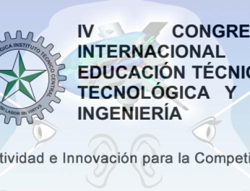 INFORMACIÓN DEL IV CONGRESO INTERNAC. DE ED. TÉCNICA Y I SEMINARIO INTERNAC. TRANSFERENCIA