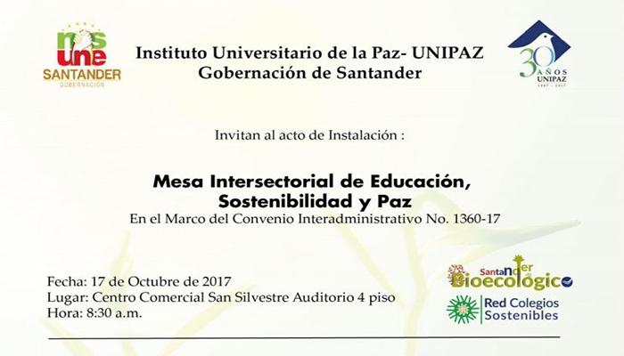 Mesa Intersectorial de Educación, sostenibilidad y paz