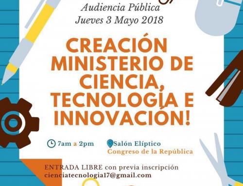 CREACIÓN MINISTERIOR DE CIENCIA, TECNOLOGÍA E INNOVACIÓN