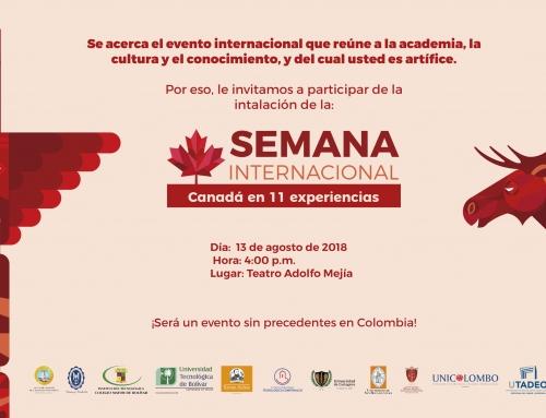 V SEMANA INTERNACIONAL EN EL COLEGIO MAYOR DE BOLÍVAR