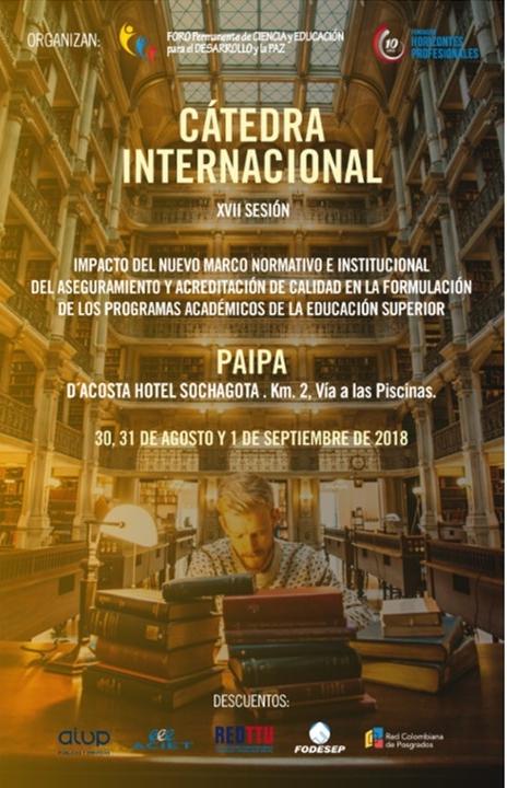 CÁTEDRA INTERNACIONAL XVIII SESIÓN, PAIPA