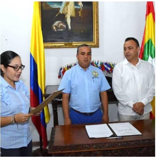 Posesión de Jairo Mendoza como rector del Colegio Mayor de Bolívar