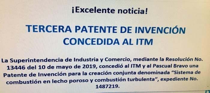 Patente de Invención No 13446