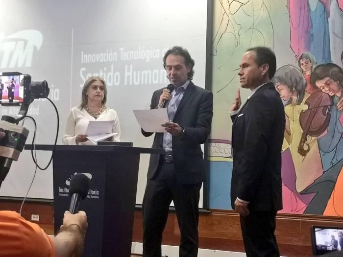 Alcalde de Medellín Federico Gutiérrez en posesión del rector Juan Guillermo Pérez del ITM
