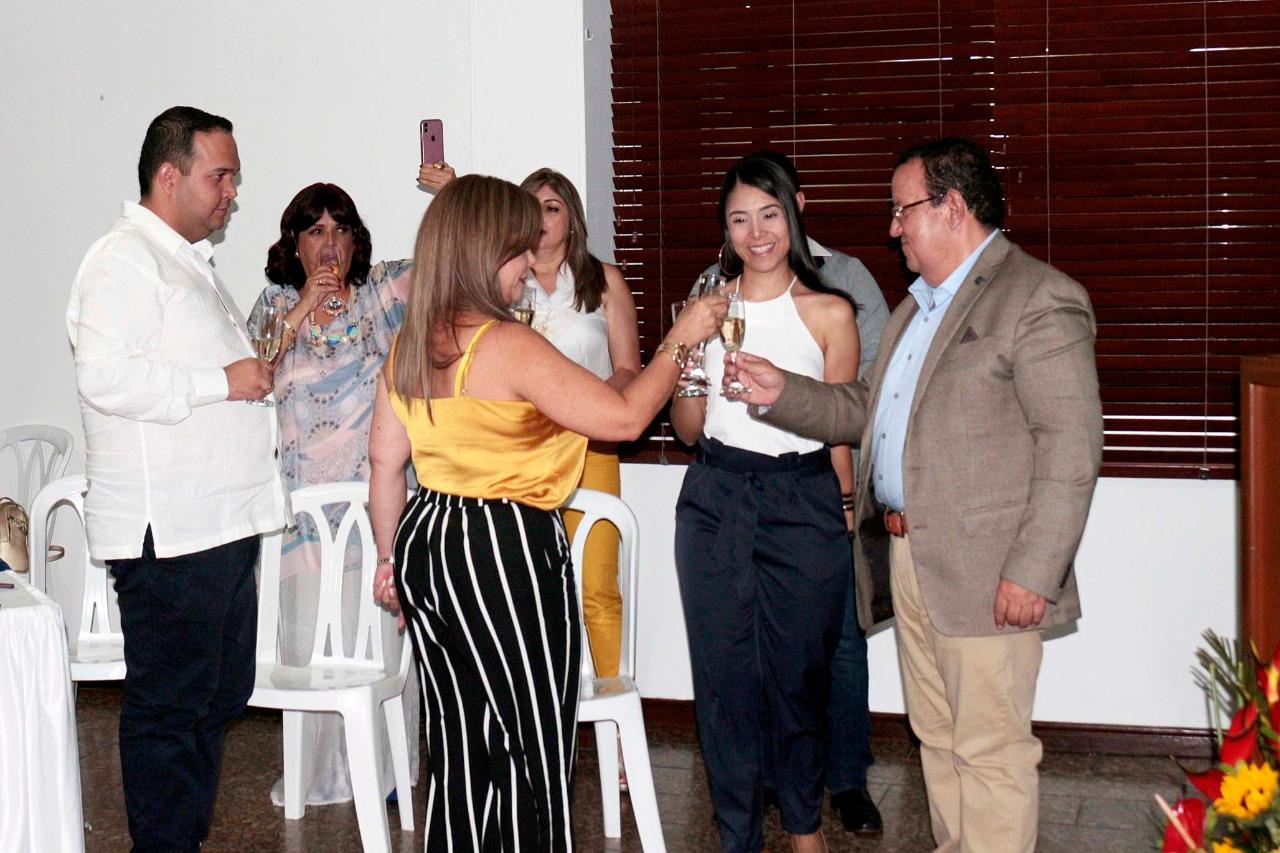 Brindis del rector Gustavo Rubio Lozano con los nominados