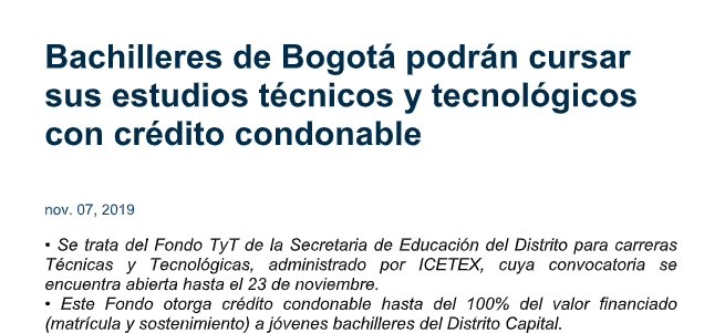 ICETEX ABRE CONVOCATORIAS