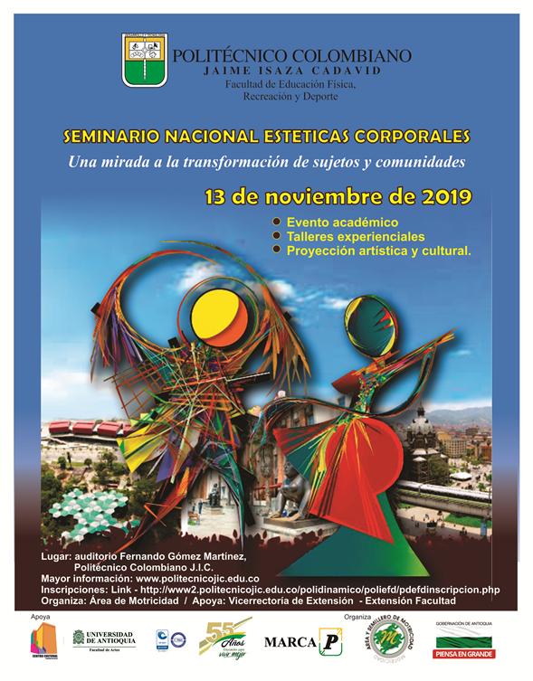 Afiche I Seminario Nacional de Estéticas Corporales