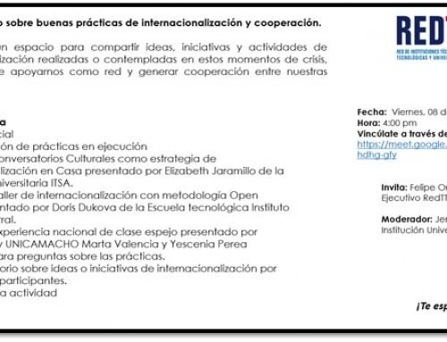 CONVERSATORIO SOBRE BUENAS PRÁCTICAS DE INTERNACIONALIZACIÓN Y COOPERACIÓN